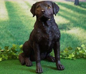 Figur Hund Labrador braun 52cm lebensecht handbemalt
