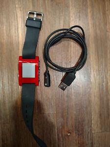 Pebble Smartwatch Red Band KickStarter Edition 301 For PARTS, sold as is