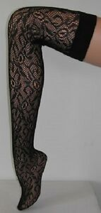 NEW LACE STOCKINGS Stay Up Quality Fashion Hosiery Vintage COSTUME
