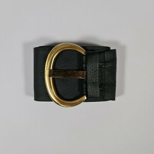 Stephen Collins Women's Black 3.5 '' Oversize Width 100% Leather Belt Size Large