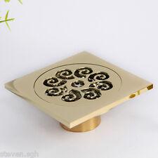 In Polished Brass Finish Floor Drain Bathroom Gold Shower Drain D15