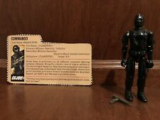 "GI Joe ""Snake Eyes"" Series 1, 1982, straight arm, card"