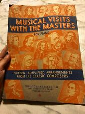 Musical Visits With The Masters for Piano 16 Simplified Arrangements Theodore