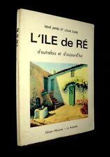 ILE de RE: Autrefois Aujourd'hui Charente Maritime Plan isle ca La Rochelle 1966