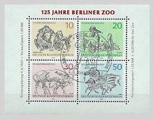 B.1 - BERLIN 125 J.Berliner Zoo 1969 Mi.338-341 Block 2 ESST BERLIN m.Gummierung