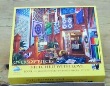 SunsOut STITCHED WITH LOVE Quilts Butgess 1000 Oversize Large Pcs Jigsaw Puzzle