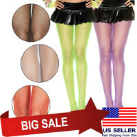 Sheer Stretch Small Diamond Net Bright Neon Color Fishnet Pantyhose Tights M-XL