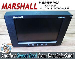 "Marshall V-R84DP-VGA 8.4"" Field Monitor LCD NTSC/PAL 4:3 / 16:9"