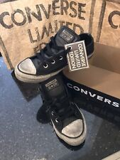 Scarpe Converse All Star Pelle Leather smoke limited edition Nuove Nero