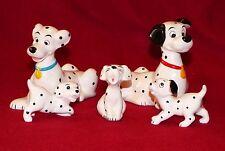 Vintage Disney 101 Dalmatians Porcelain Figurine Set of Five