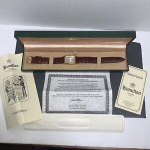 Beautiful Vintage Mens Hamilton Masonic 9/100 Ref 6172 Watch W/ Box,papers