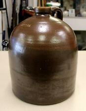 Beautiful Antique ATTICA Indiana Brown Albany Slip Glaze 2 Gallon Jug
