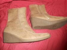 Zip Mid Heel (1.5-3 in.) Wedge Textured Boots for Women