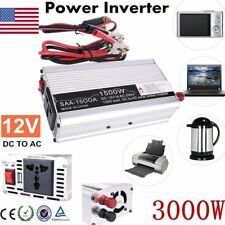 3000W Peak DC12V to AC 220V Solar Power Inverter Converter USB Output Charger
