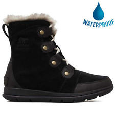 Sorel Explorer Joan Womens Black Waterproof Warm Winter Walking Snow Boots