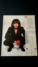 "JANET JACKSON  ""MTV'S 1990 VANGUARD AWARD"" RARE ORIGINAL PRINT PROMO POSTER AD"