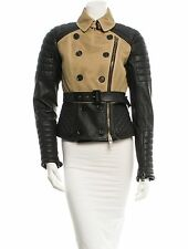 SPECTACULAR NWT SOLD OUT BURBERRY  PRORSUM LEATHER & MESH OVERLAY MOTO JACKET