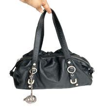 Bebe Black Leather Women's Shoulder Bag Satchel