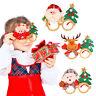 Christmas Santa Claus Deer Snowman Glasses Kids Gifts Ornaments Christmas Decor