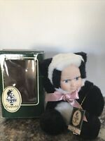 Cuddle Kids Collectibles Page Panda Bear  Geppeddo Porcelain Face Doll Animal