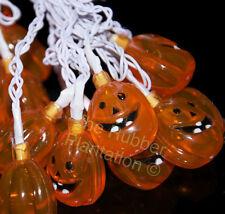 Halloween Calabaza GUIRNALDA LUCES DE PILAS cuerda con 20 NARANJA LED Fiesta