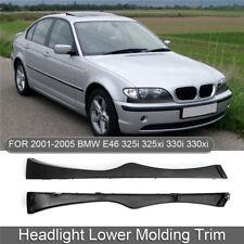 Pair Right Left Headlight Lower Molding Trim For BMW E46 330i 330Xi 325i 325Xi