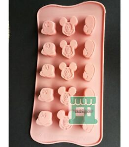 Mickey Mouse Gelatin Jelly Ice cube Chocolate Silicone Mold Molder
