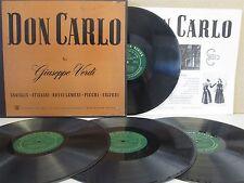CETRA 1234 USA- Verdi Don Carlo 4-LP PREVITALI, Caniglia/Stignani/Sciutti/Picchi