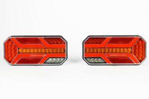 L+R LED Rückleuchten Satz LKW Anhänger Rückleuchten mit dynamische Blinker