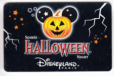 PASS DISNEY PASSEPORT CARTE / CARD  SOIREE HALLOWEEN NIGHT