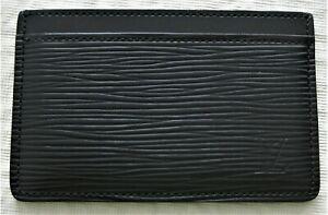 Authentic Genuine Louis Vuitton Epi Card Holder Black