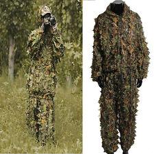 Woodland Sniper Ghillie Suit Kit 3D Leaf Camouflage Camo Jungle Hunting Birding
