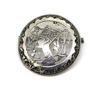 alter Anhänger / Brosche - Silber - Ägypten Nofretete