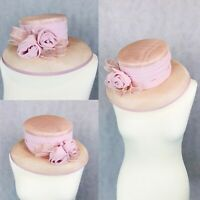 Cappelli Condici Hat Formal Hat Pink Roses Mother Of The Bride Occasion Wedding