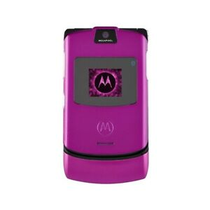 Phone Mobile Phone Motorola V3 Razr Fuchsia Camera Bluetooth Top Quality
