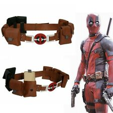 NEW Deadpool Belt PU Leather Belt Updated Version Cosplay Costume Prop For Adult