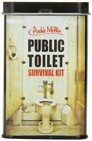 Accoutrements Público Baño Supervivencia Kit Regalo Broma Campamento Lata