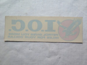 I O C PETROL CANADA CAR WINDOW STICKER NEW OLD STOCK EXCELLENT CONDITION c1970s
