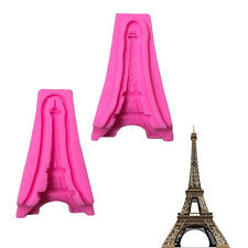 3D Eiffel Tower Silicone Mold Cake Moulds Soap Cupcake Topper Decorating Tools
