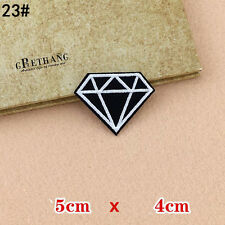 Iron On Patch Diamond Gem Badge For T Shirt Cap Uniform Jeans Backpack Hat Mask
