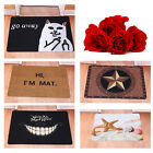 Creative Door Mat Starfish Go Away Cat Rubber Floor Rug Non-slip Doormat Carpet