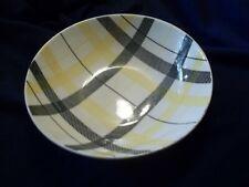 Homer Laughlin Dura Print  Plaid Round Serving Bowl Yellow & Black  c 1955