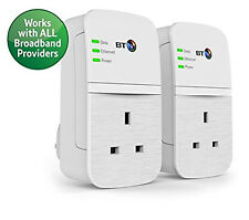 BT WiFi Broadband Extender Twin Pack Adapter Wireless Home Signal Range Booster