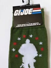 G.I. Joe Novelty Collectible Crew Socks Army Green Military Size 6-12 New w/Tag