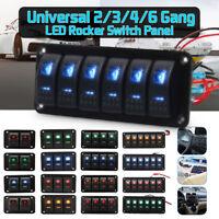 On/Off Rocker Switch Panel Dual LED Light Car RV Marine Boat Waterproof 12V/24V