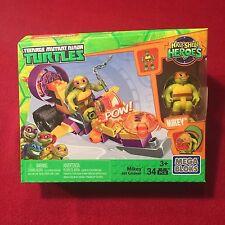 Mega Bloks Teenage Mutant Ninja Turtles Mikey Jet Cruiser TMNT 34 Pieces NEW MIP