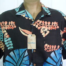"NWT Caribbean Mens XL Cotton Blend Camp Shirt  54"" Chest MSRP $69.50"