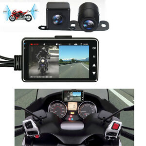 "3"" LCD 140° Waterproof Dual Action Camera Video Recorder for Motorcycle Car Bike"