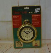 "Vintage Jerdon Shower Clock Water Resistant Chrome 5"" Diameter New Old Stock"