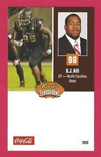 B.J. HILL 2018 REESE'S SENIOR BOWL RC NORTH CAROLINA STATE WOLFPACK ROOKIE CARD